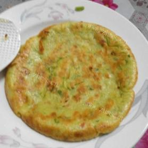 青菜鸡蛋饼