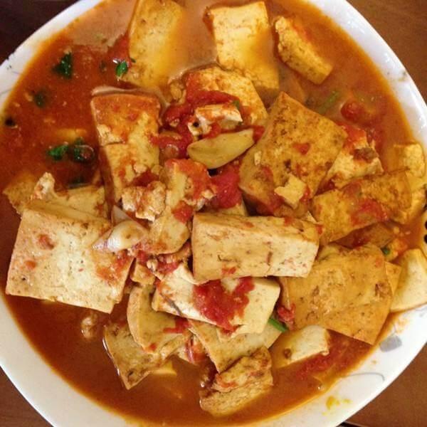 番茄炒豆腐