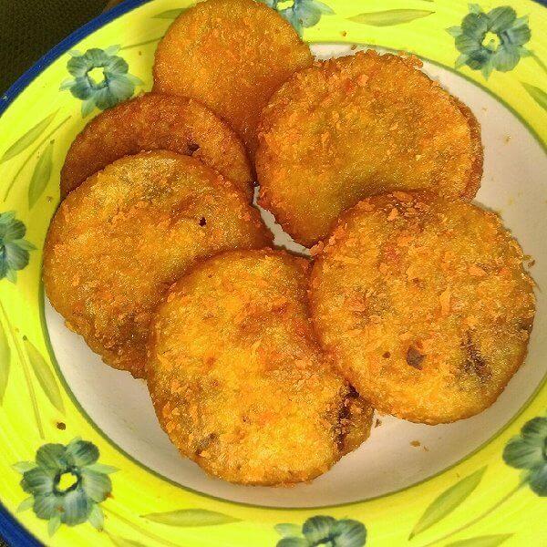 美味的豆沙南瓜饼