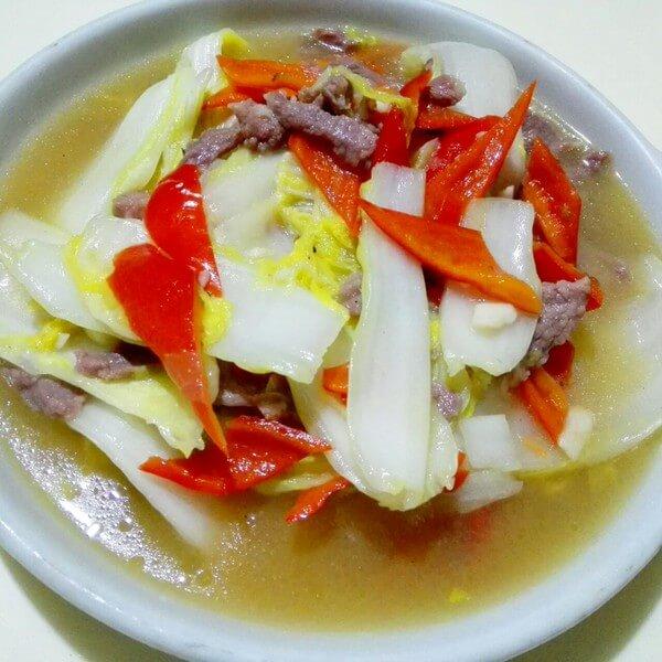 白菜炒肉丝