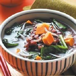 紫米蔬菜粥