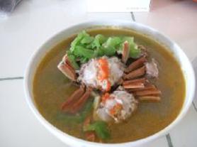 大闸蟹苦瓜汤