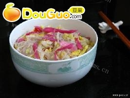 美味的家常泡菜炒米粉