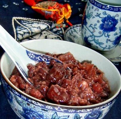 雪耳红豆紫米粥