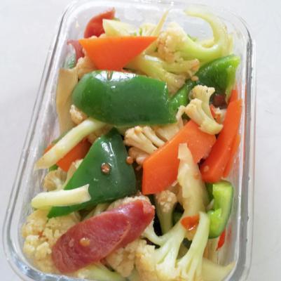 腊肠炒花菜