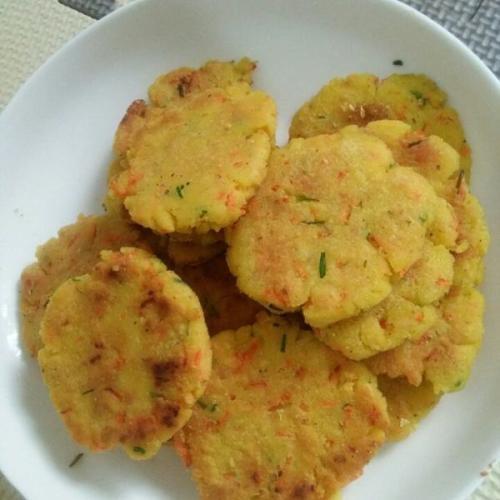 葱香豆渣饼