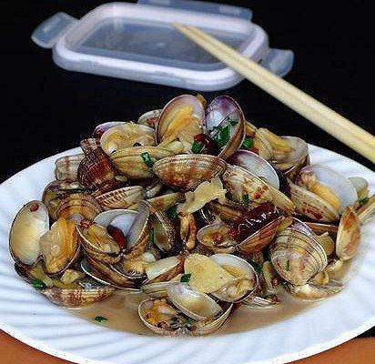 香葱炒牡蛎肉