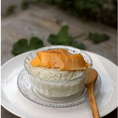 自己做的泰国芒果糯米饭