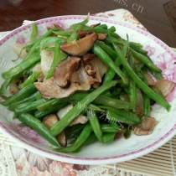 肉片炒四季豆