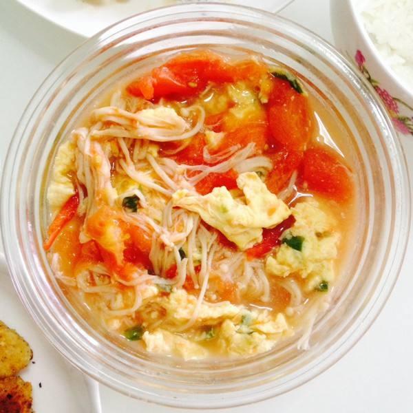 金针菇鸡蛋汤