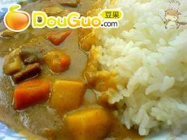 美味的牛肉咖喱饭
