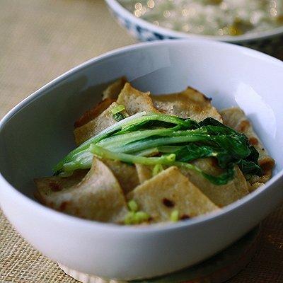 家庭版小青菜炒豆饼