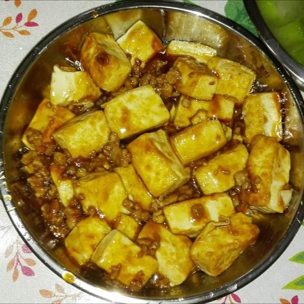 【DIY美食】肉末豆腐