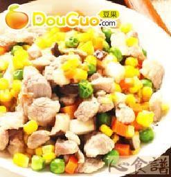 炒四色蔬菜