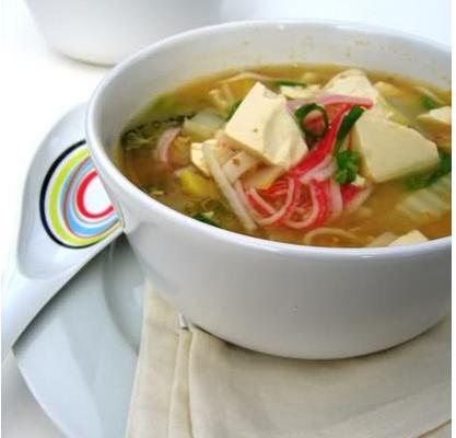 美味的蟹肉豆腐煲
