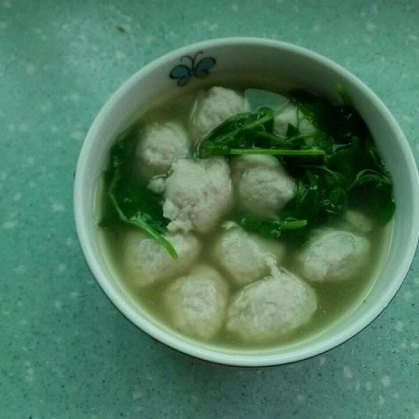 青菜鱼丸汤