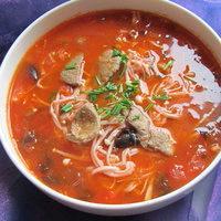 香辣蘑菇猪肝汤 不吃猪肝的都敢吃
