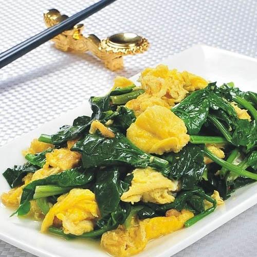自己做的菠菜炒鸡蛋