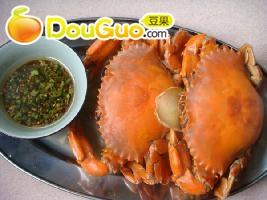 健康的清蒸膏蟹