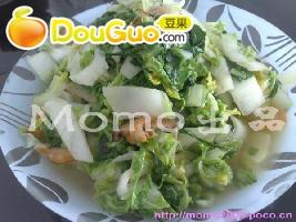 简单的虾米杭白菜