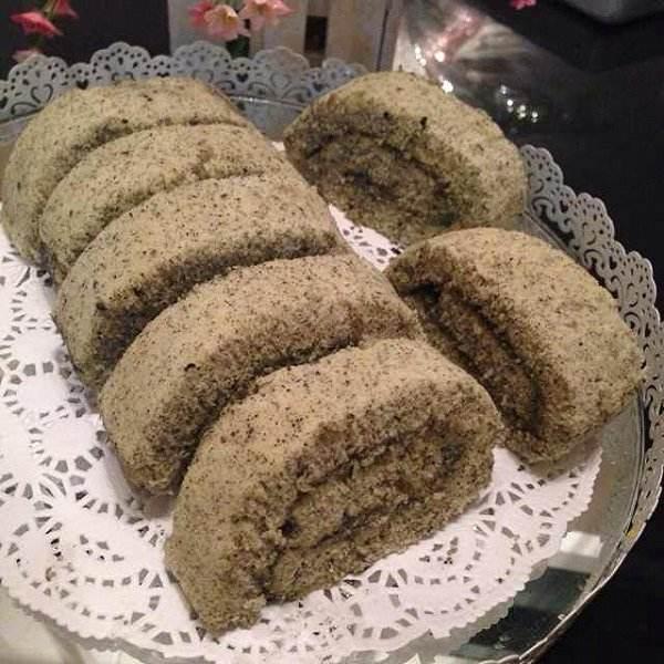 黑芝麻海绵蛋糕