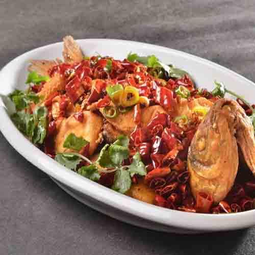 超美味的辣子鱼块