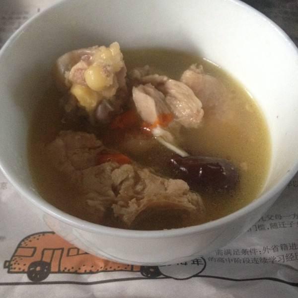 简单油饼母鸡汤