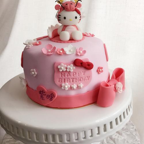 甜美的翻糖蛋糕