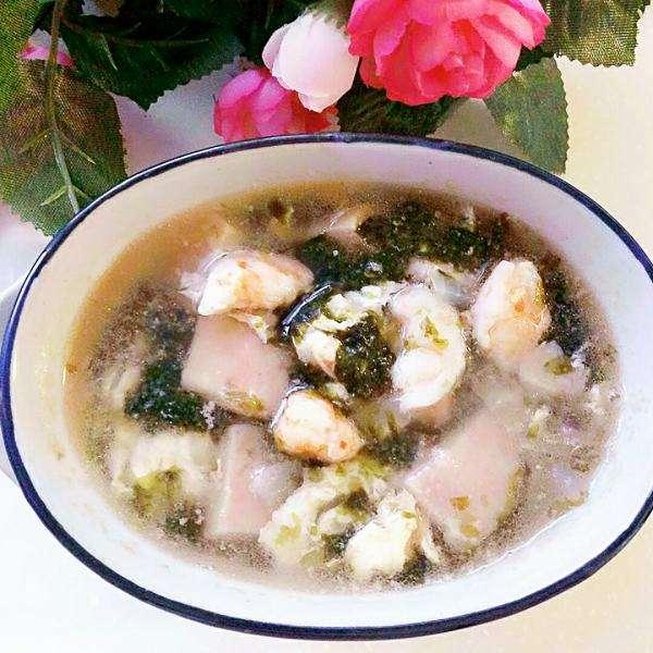 紫菜肉片汤