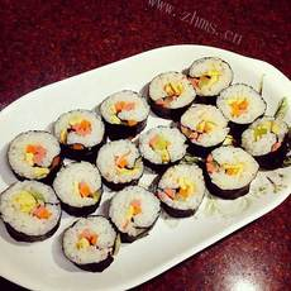 好吃的美味寿司卷