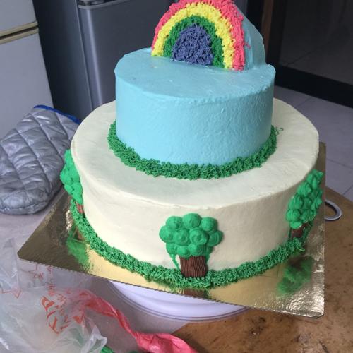 好吃的双层生日蛋糕