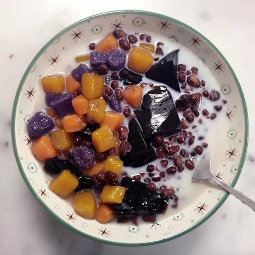 可口紫薯烧仙草椰奶
