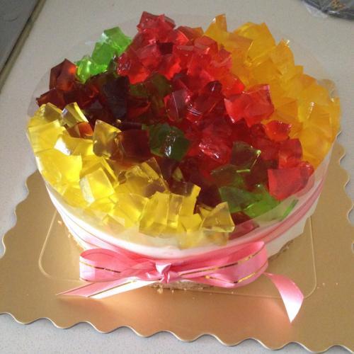 美味的彩虹果冻