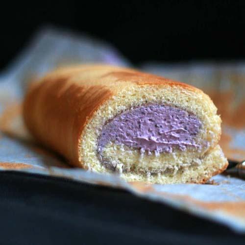 最爱吃的美食蓝莓奶油蛋糕