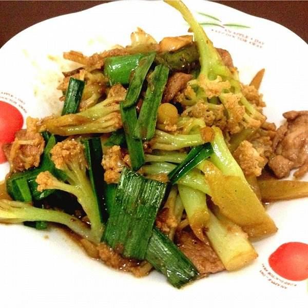 青椒炒花菜