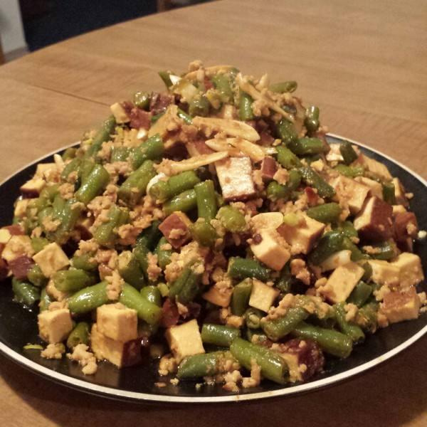 四季豆炒肉末