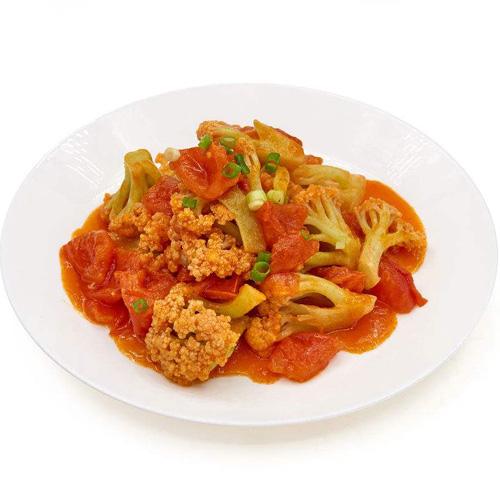 营养晚餐番茄酱菜花的做法