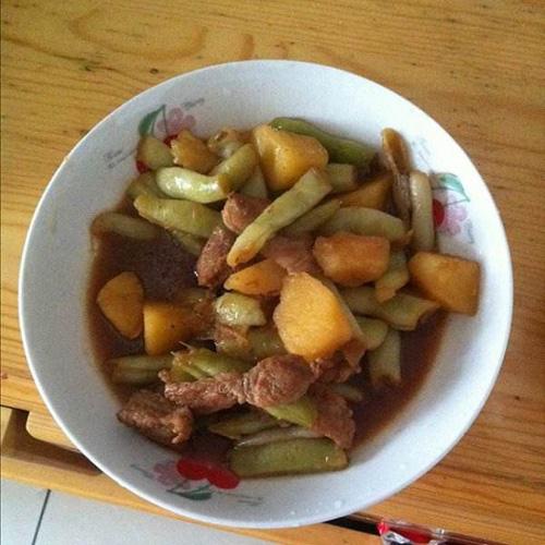 下饭土豆豆角炖肉