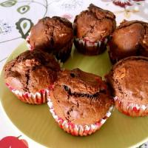 甜蜜蜜的巧克力椰丝麦芬
