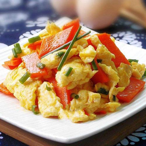 美味胡萝卜炒鸡蛋