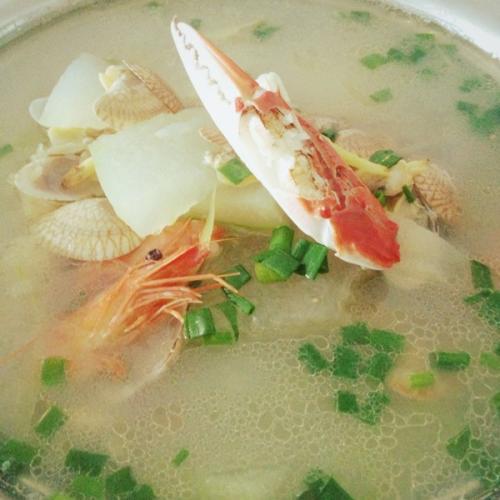 海鲜冬瓜汤