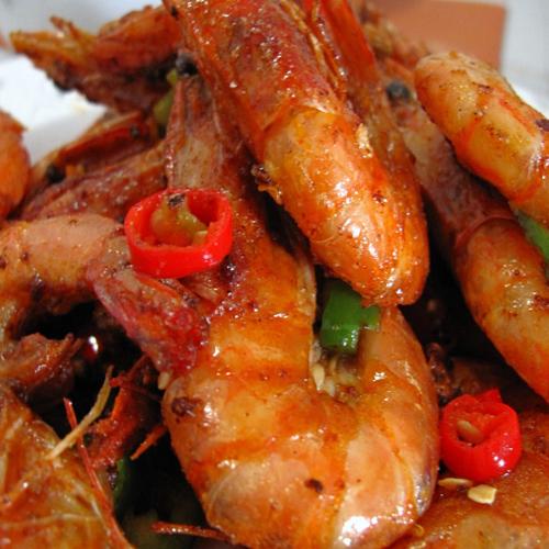 美味的椒盐大虾