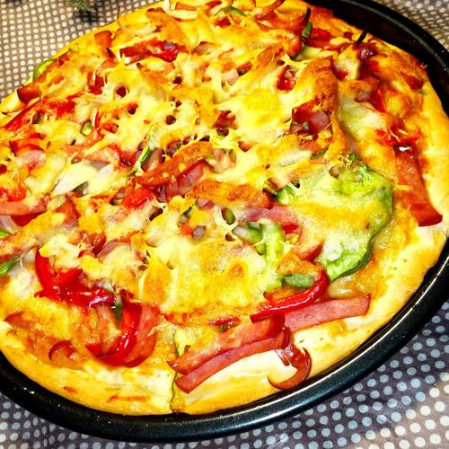 自制培根披萨