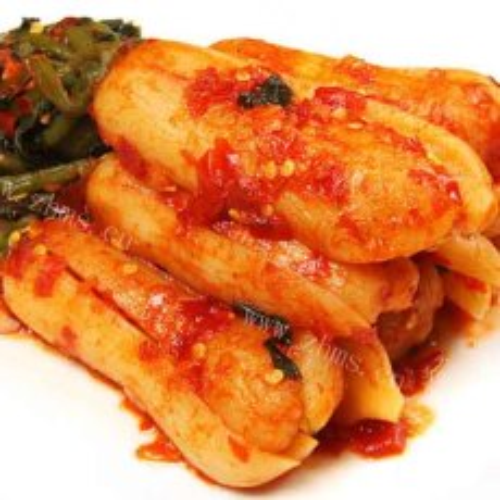美味的韩国萝卜泡菜