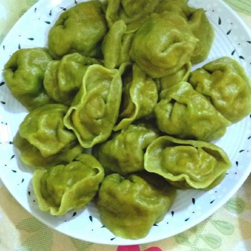 味道鲜美的翡翠饺