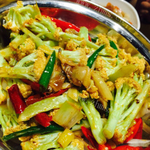 美味营养的干锅花菜