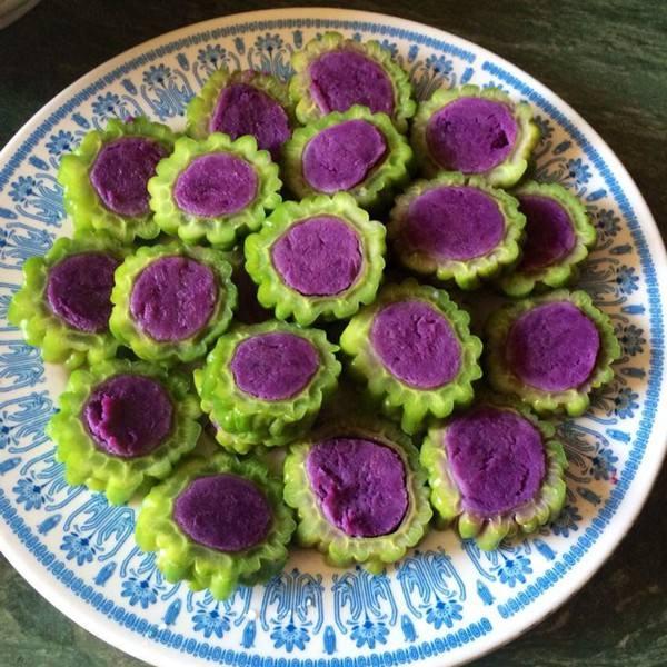 紫薯苦瓜圈