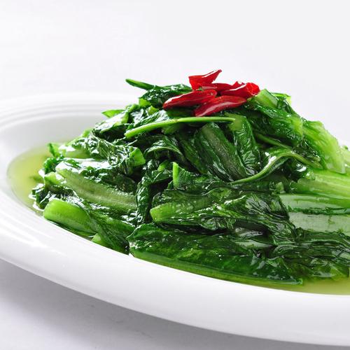 家常菜清炒油麦菜