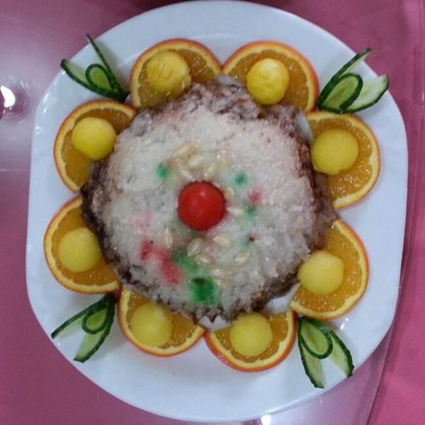 清香的南瓜八宝饭