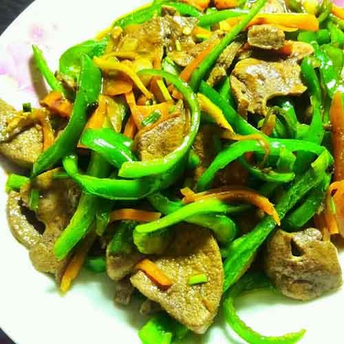 青椒炒猪肝(懒人版)